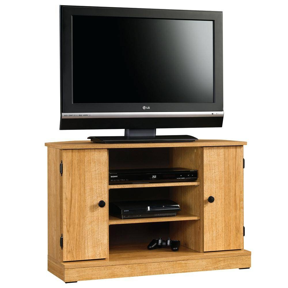 Tv Stand : Small Oak Corner Tv Stand Uk Wonderful Sauder pertaining to Small Oak Corner Tv Stands (Image 12 of 15)