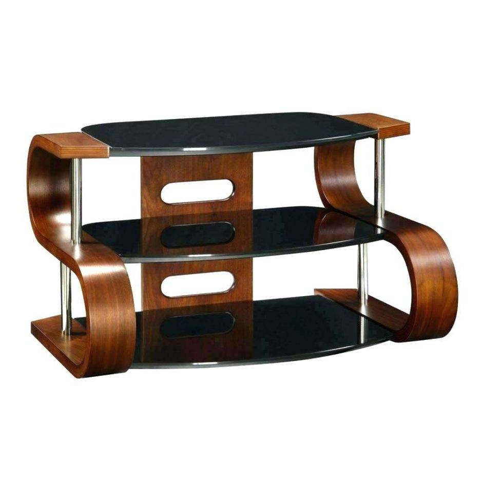 Tv Stand : Stupendous Unusual Dark Wooden Modern Tv Stand Tier inside Unusual Tv Stands (Image 14 of 15)
