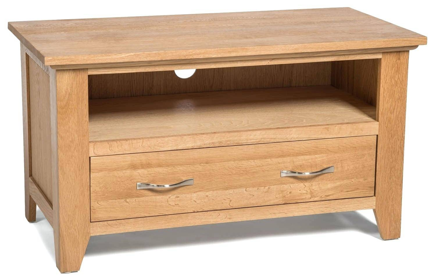 Tv Stand : Superb Galway Natural Solid Oak Corner Tv Cabinet With Regard To Small Oak Corner Tv Stands (View 13 of 15)