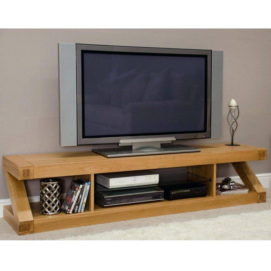 Tv Stand : Superb Zee Solid Oak Flat Screen Tv Stand Ideal Home With Contemporary Oak Tv Stands (View 3 of 15)