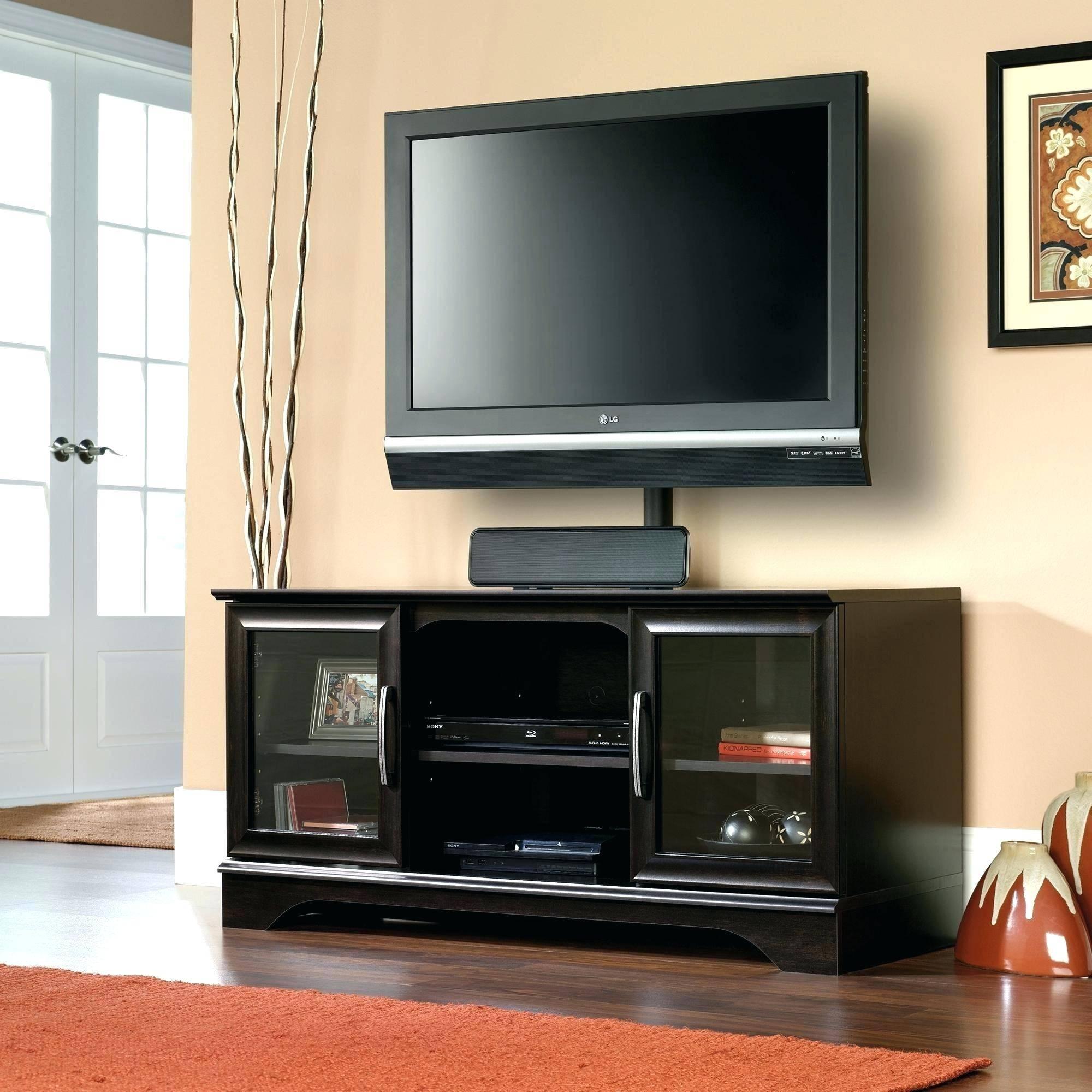 Tv Stand : Trendy Tv Stand With Optional Mountswivel Mount Black Regarding Trendy Tv Stands (View 7 of 15)
