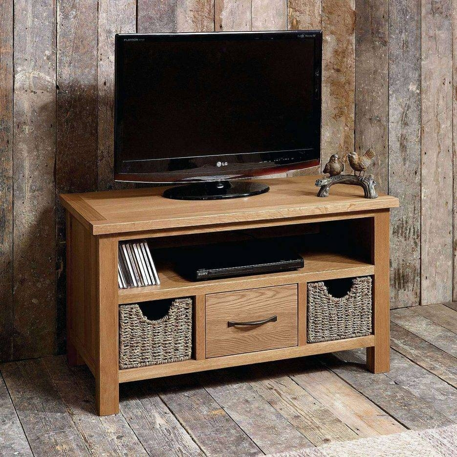 Tv Stand : Tv Stand For Living Space Sidmouth Oak Tv Stand With Pertaining To Tv Stands With Baskets (View 4 of 15)