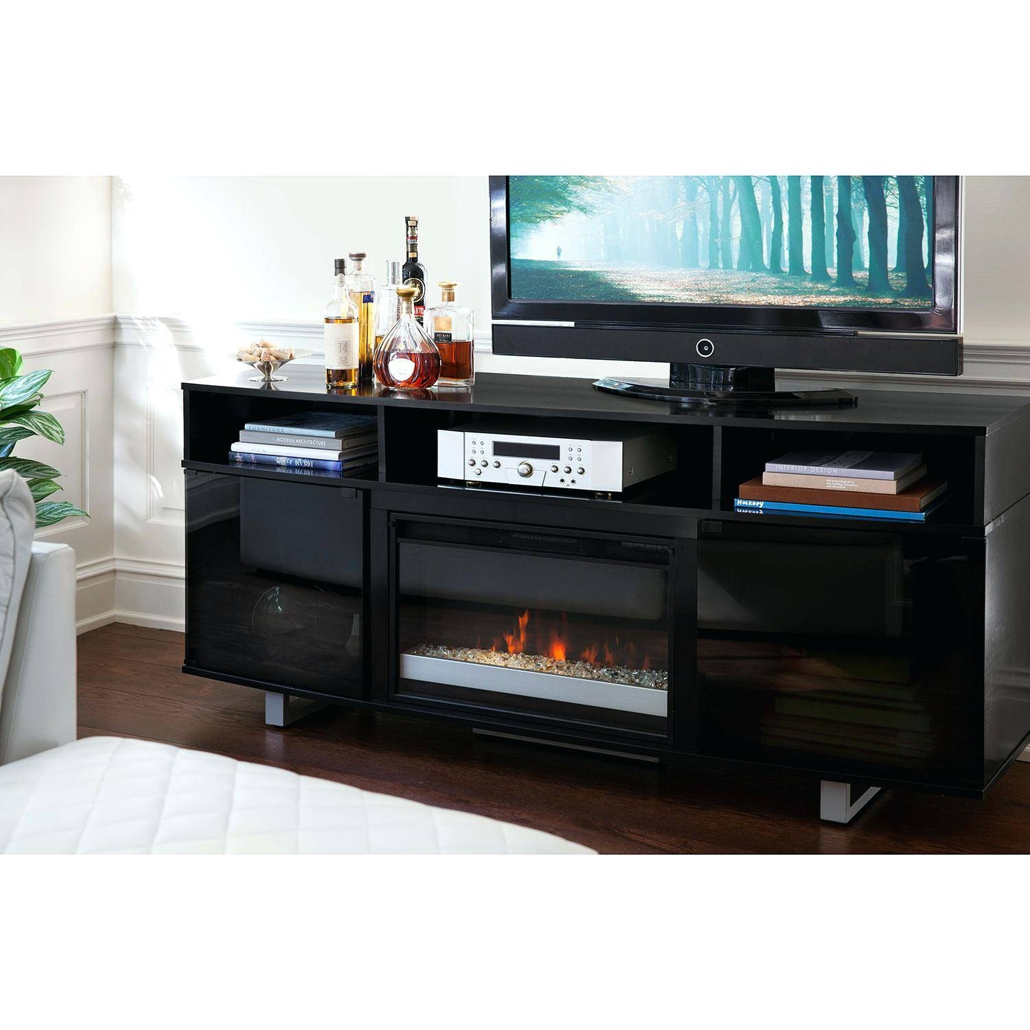 Tv Stand : Tv Stand Furniture Compact Jm Tv027 Modern Tv Stand In in Shiny Black Tv Stands (Image 15 of 15)