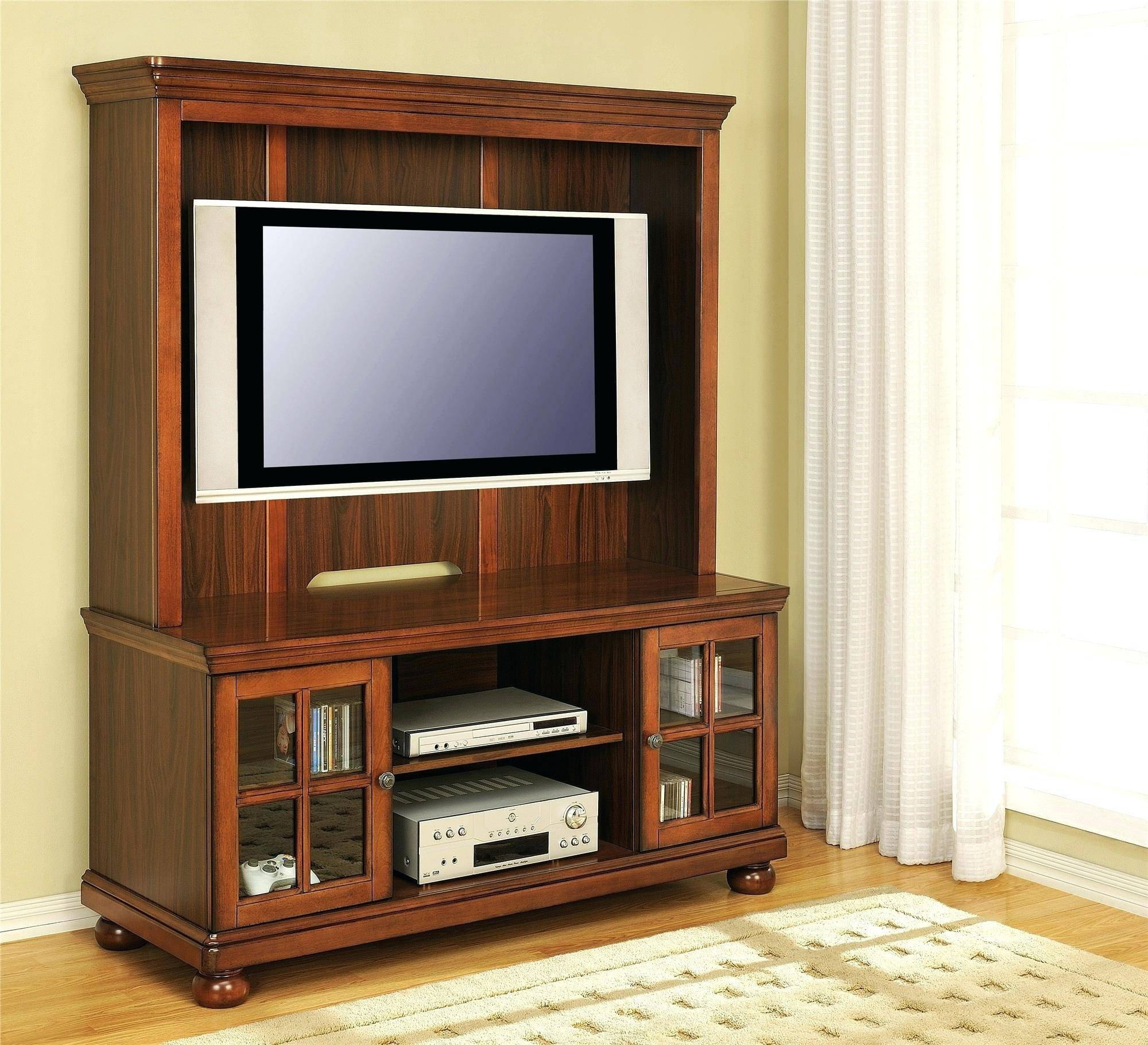 Tv Stand : Tv Stand Ideas Awesome Like This Itemrustic Dark Oak Tv Within Oak Tv Cabinets For Flat Screens With Doors (View 14 of 15)