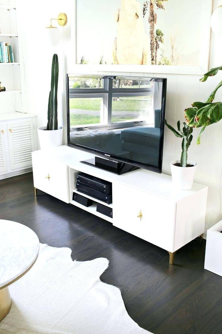 Tv Stand : Ultra Modern Tv Cabinet Shallow Depth Tv Stand In Black with Ultra Modern Tv Stands (Image 12 of 15)