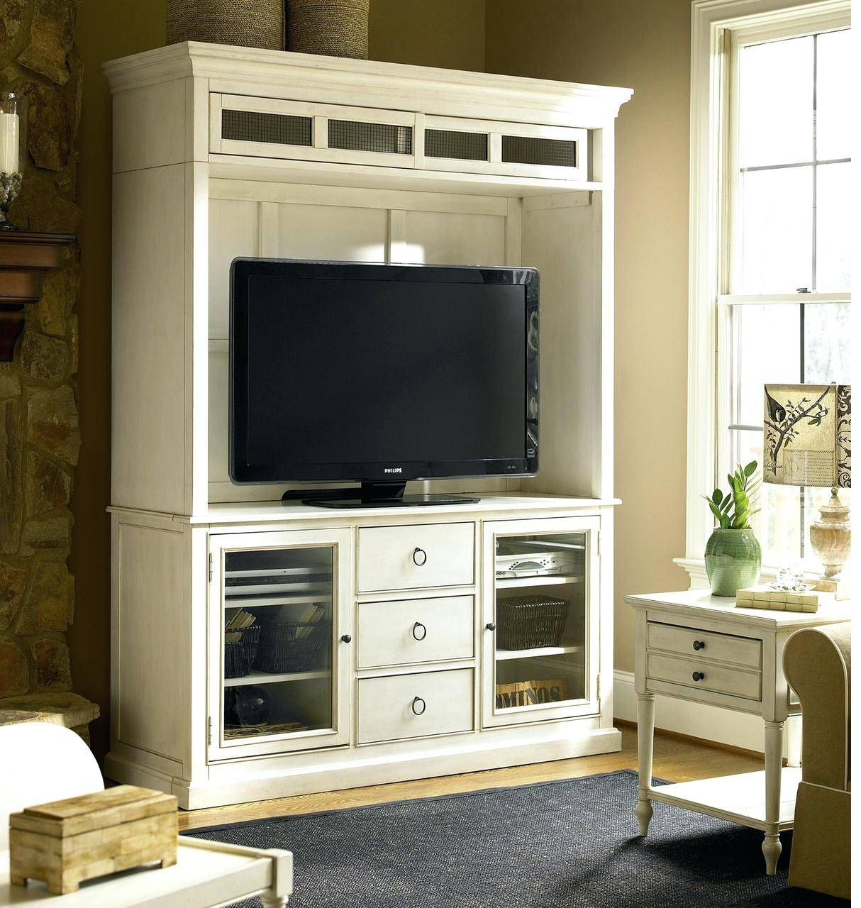 Tv Stand : Wildwood Rustic Gray Oak Storage Entertainment Center pertaining to Maple Wood Tv Stands (Image 8 of 15)