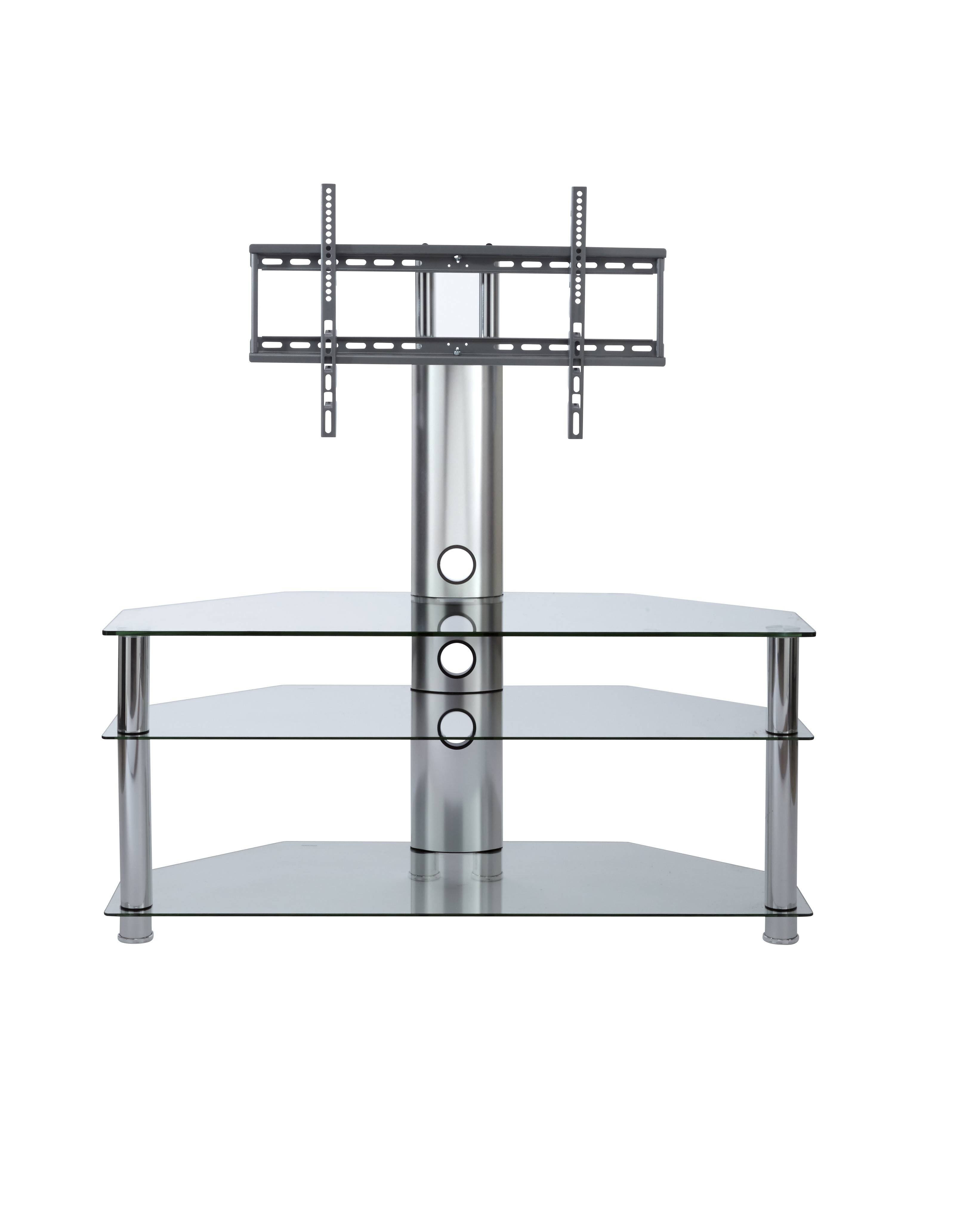 Tv Stand With Mount | Clear Glass Cantilever Tv Stand regarding Cheap Cantilever Tv Stands (Image 13 of 15)