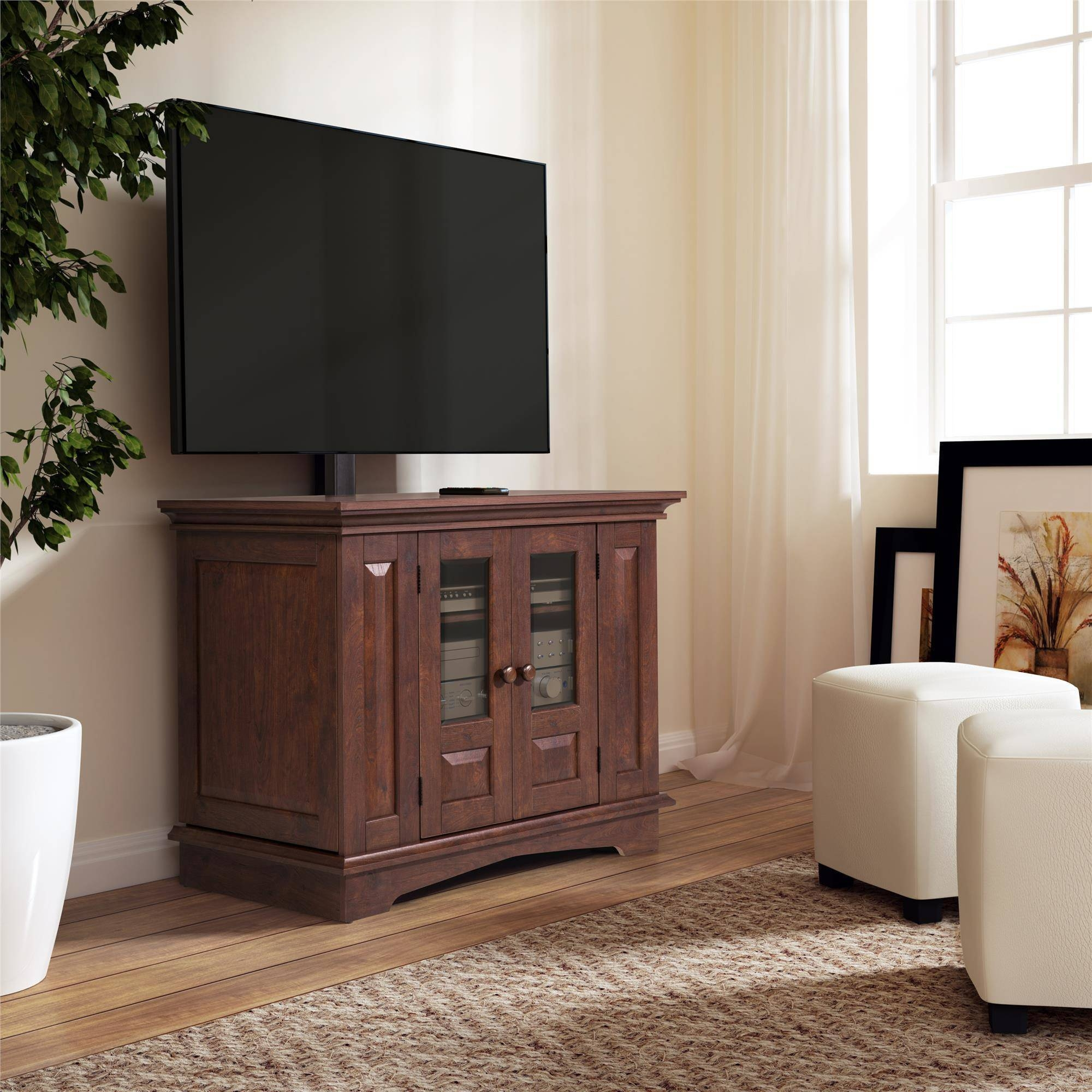 Tv Stand With Mount Tv Stands - Walmart pertaining to Cordoba Tv Stands (Image 11 of 15)