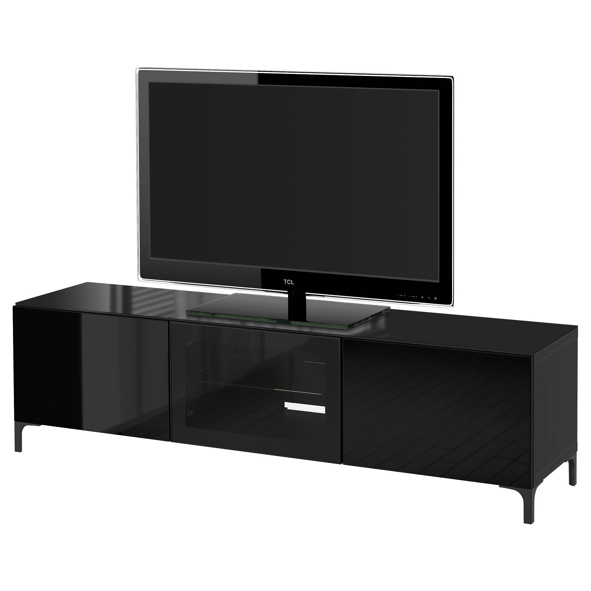 Tv Stands & Entertainment Centers - Ikea intended for Black Tv Cabinets With Doors (Image 15 of 15)