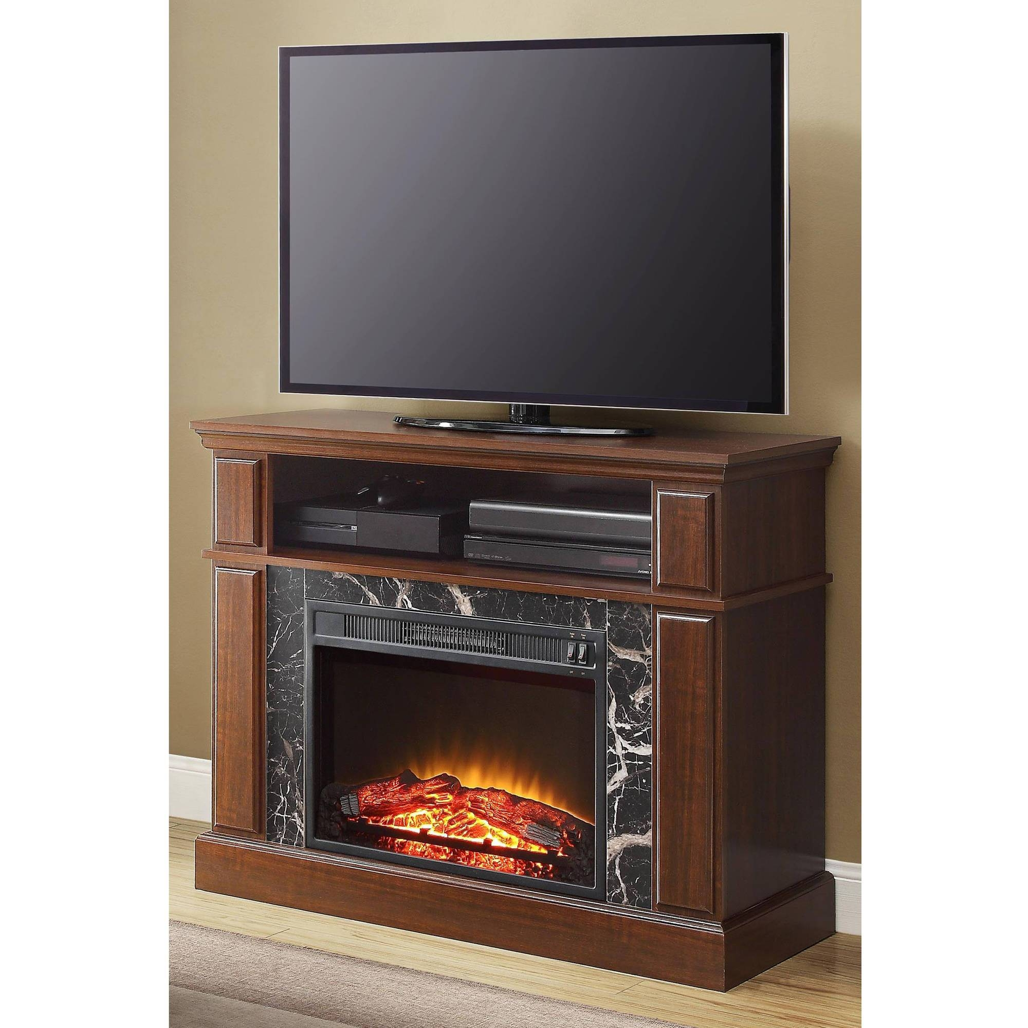 Tv Stands & Entertainment Centers - Walmart for Big Tv Stands Furniture (Image 12 of 15)