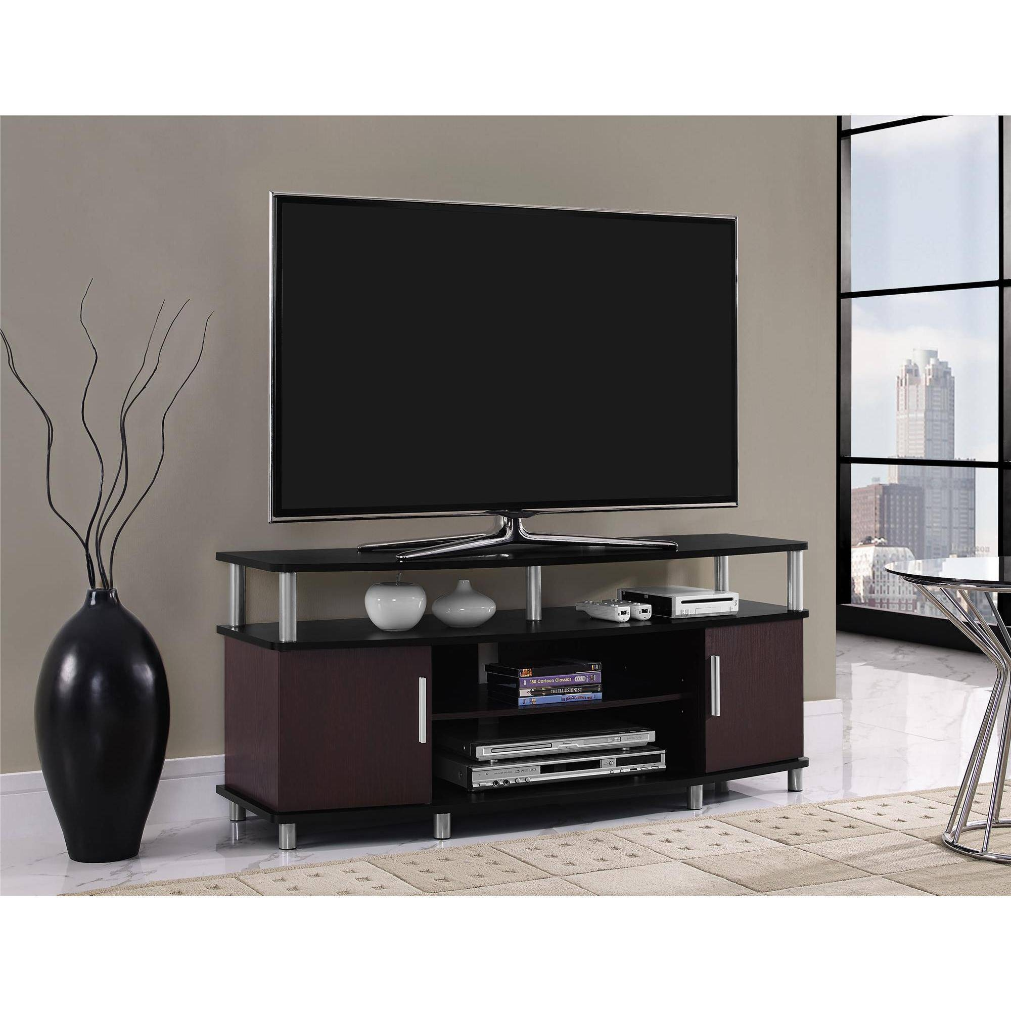 Tv Stands & Entertainment Centers - Walmart in Black Tv Cabinets With Drawers (Image 13 of 15)