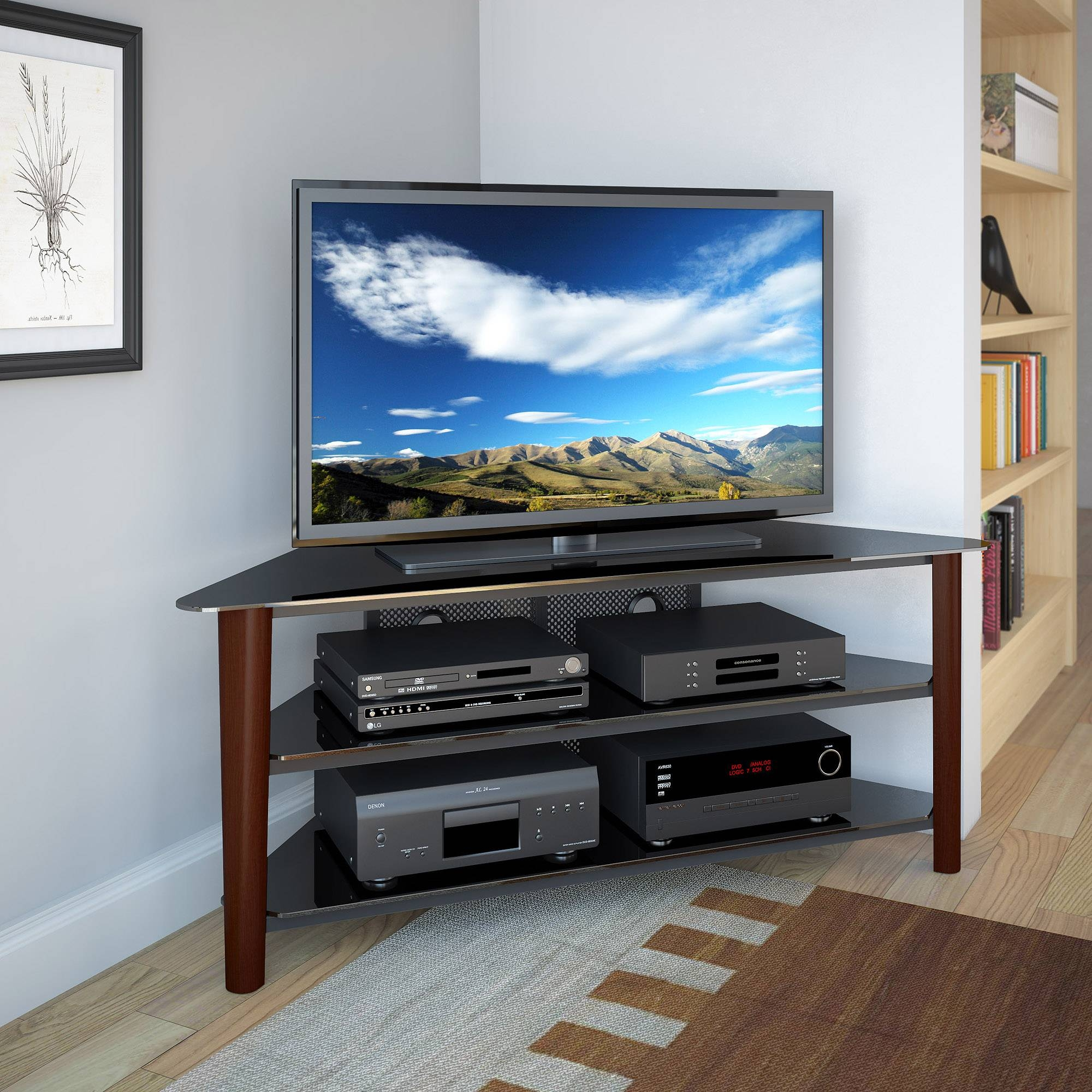 you can home stand living now black tv bedroom designs room cool amazing pin corner right build ideas your diy shelf for