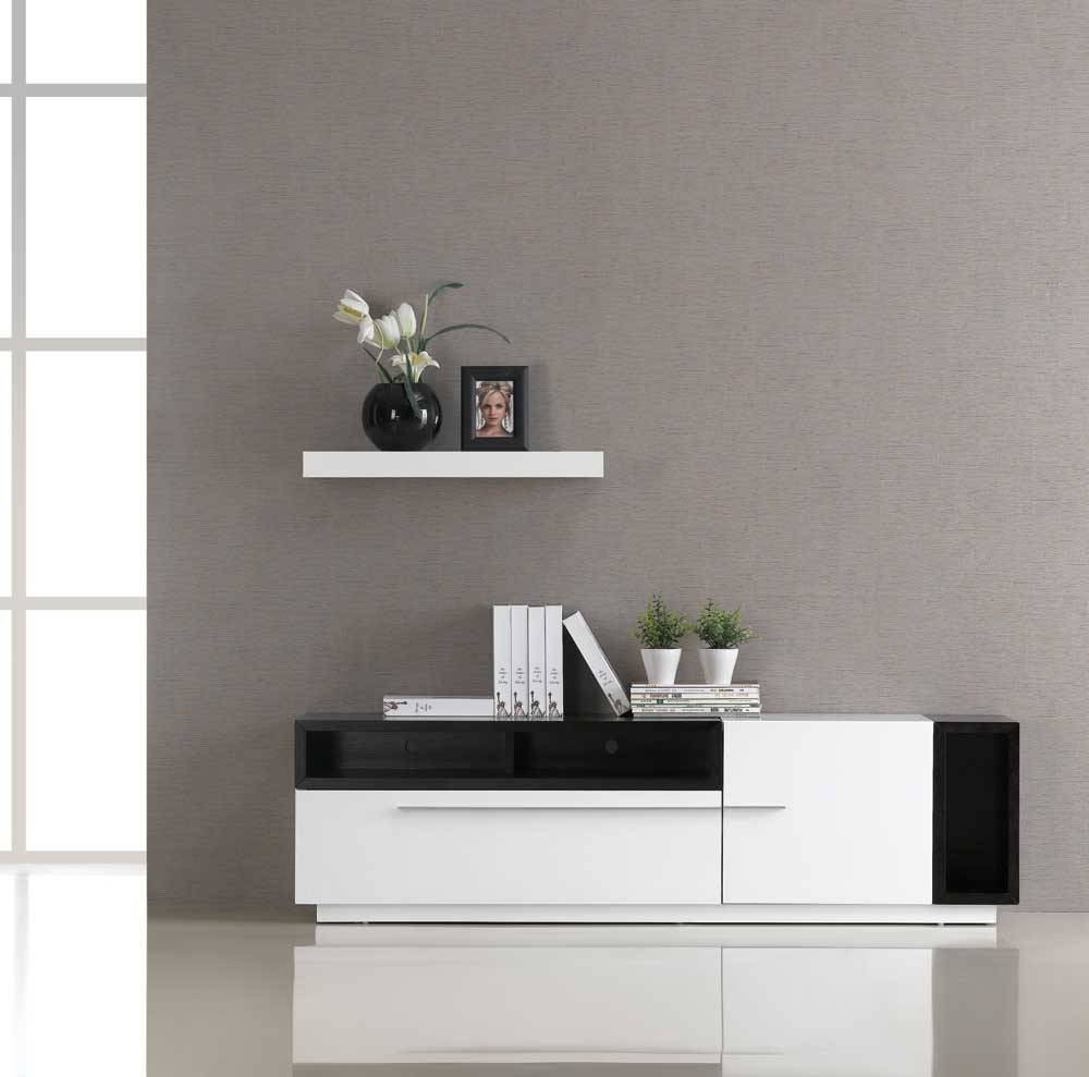 Showing Photos Of White And Black Tv Stands View Of Photos