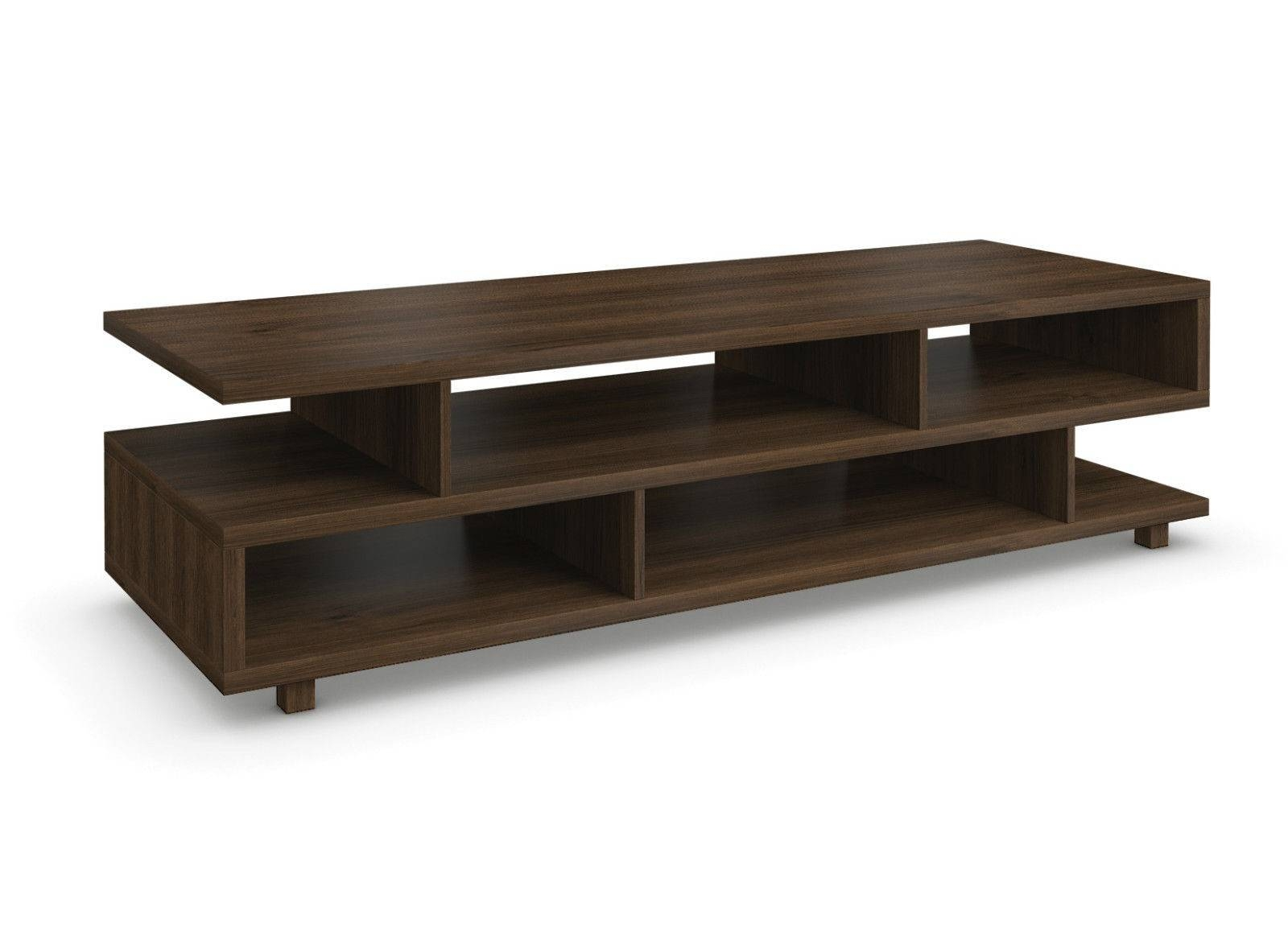 Tv Table Lcd Led Rack Walnut Finish - Lalbay with Tv Table (Image 12 of 15)