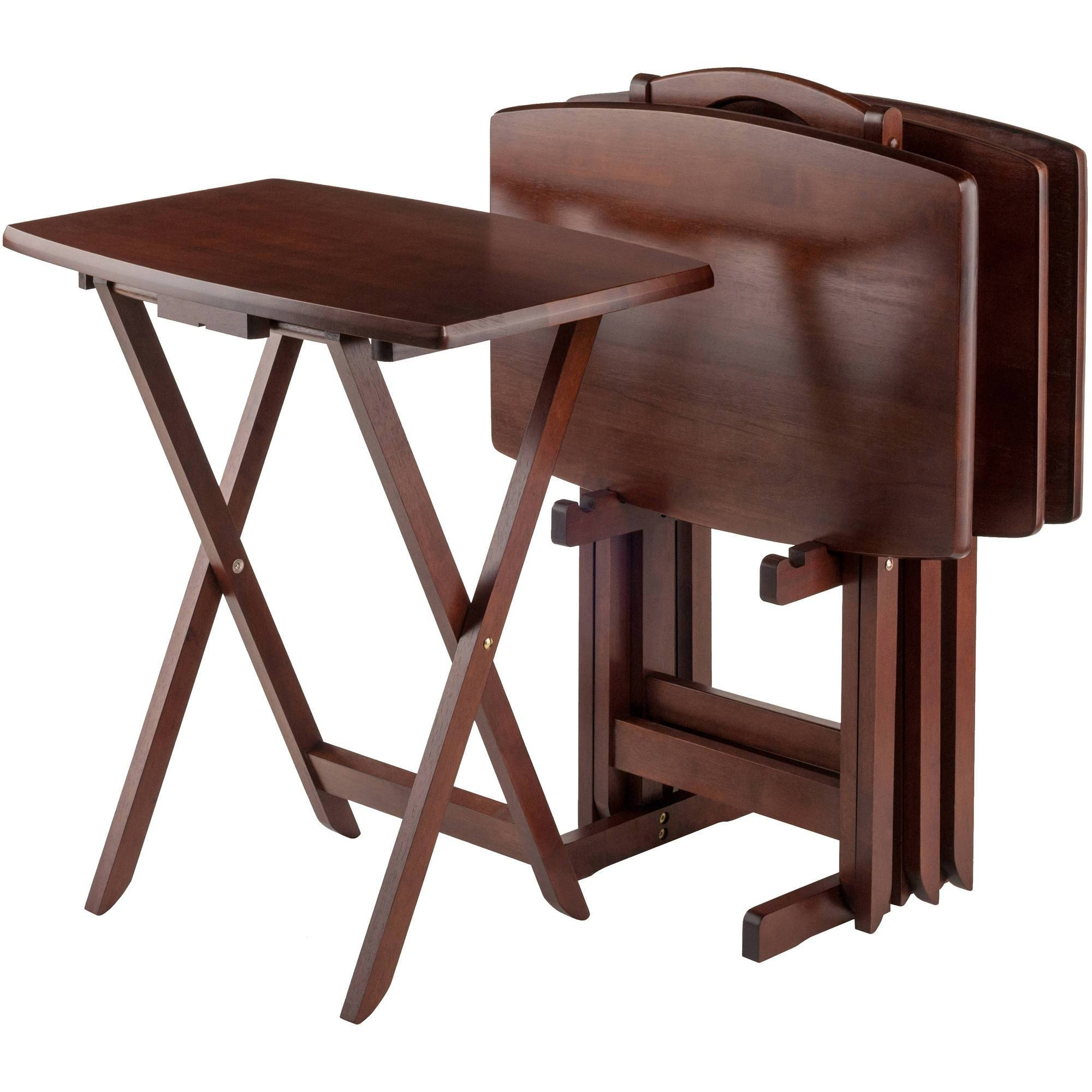 Tv Tray Tables - Walmart for Folding Tv Trays With Stand (Image 8 of 15)