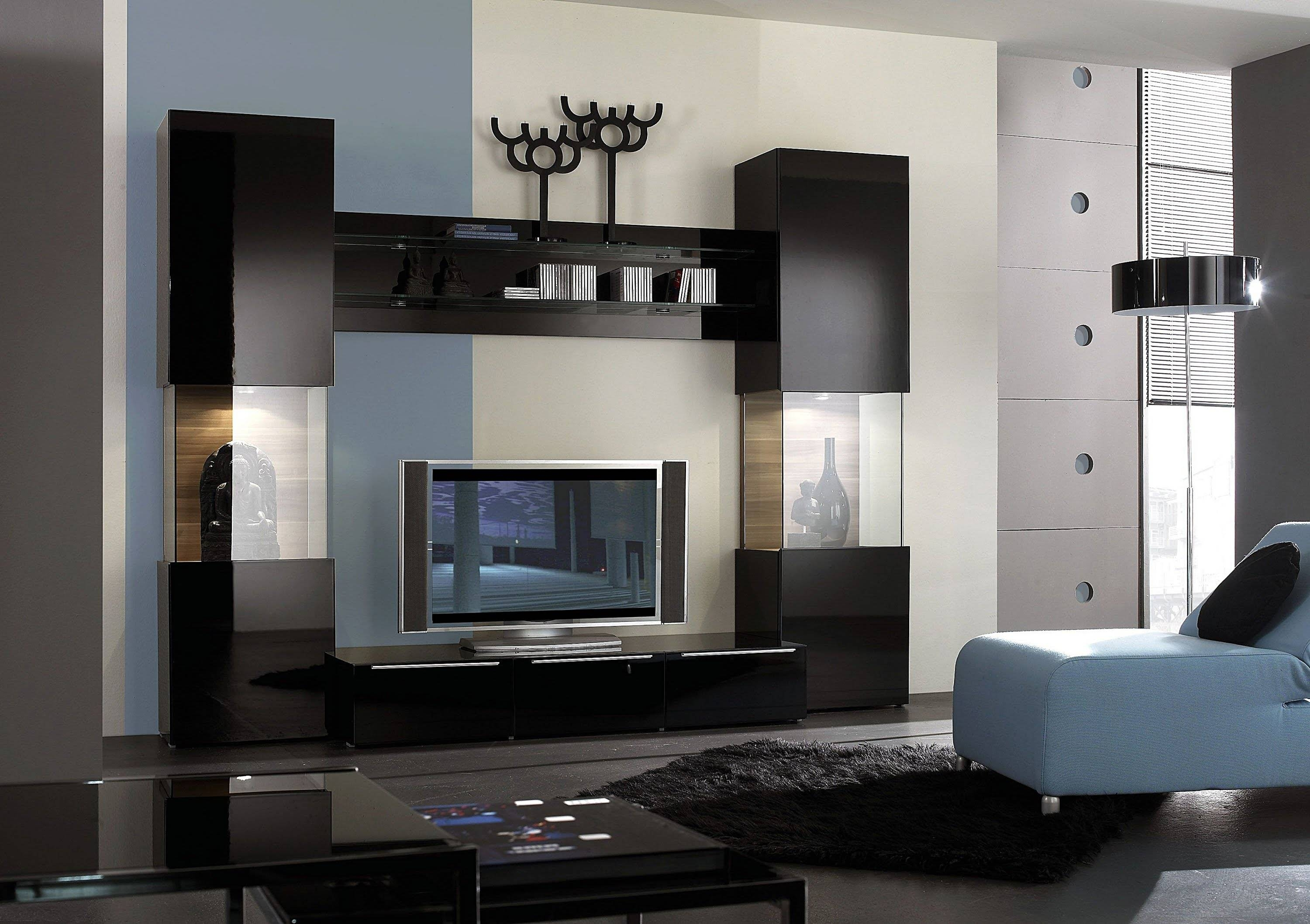 Tv Unit Design Home Furniture Lcd Tv Wall Unit Designs Designer In pertaining to On the Wall Tv Units (Image 9 of 15)