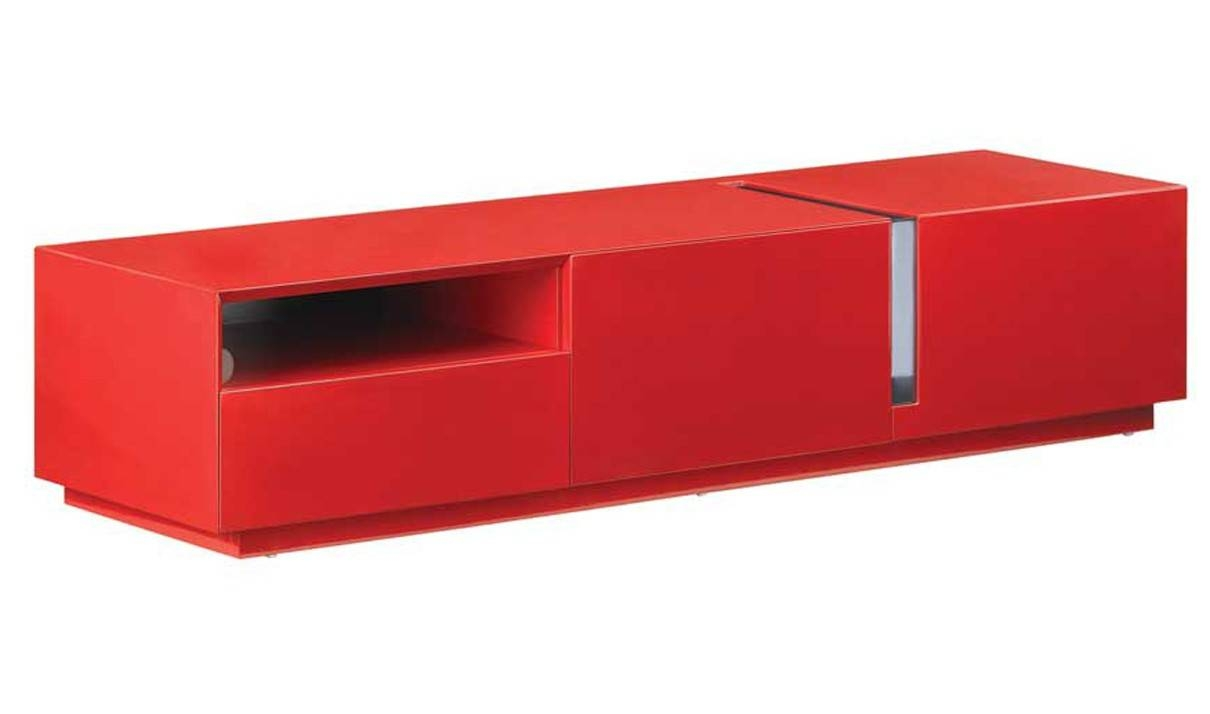 Tv027 Modern Tv Stand In Red High Gloss | Free Shipping | Get With Red Tv Stands (View 2 of 15)