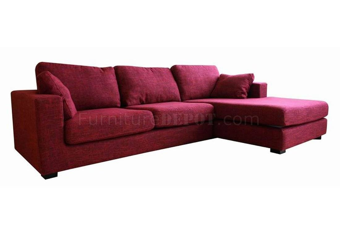 Featured Photo of Burgundy Sectional Sofas