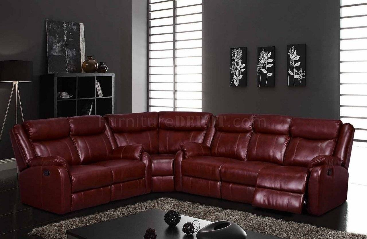 U9303 Motion Sectional Sofa In Burgundyglobal throughout Burgundy Sectional Sofas (Image 14 of 15)