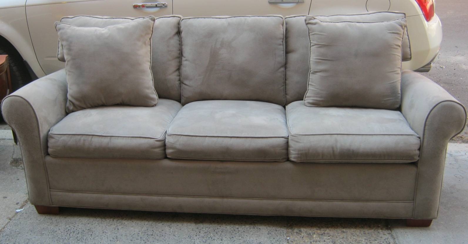 Uhuru Furniture & Collectibles: Grey Microfiber Sofa Bed - Sold intended for Microsuede Sofa Beds (Image 15 of 15)