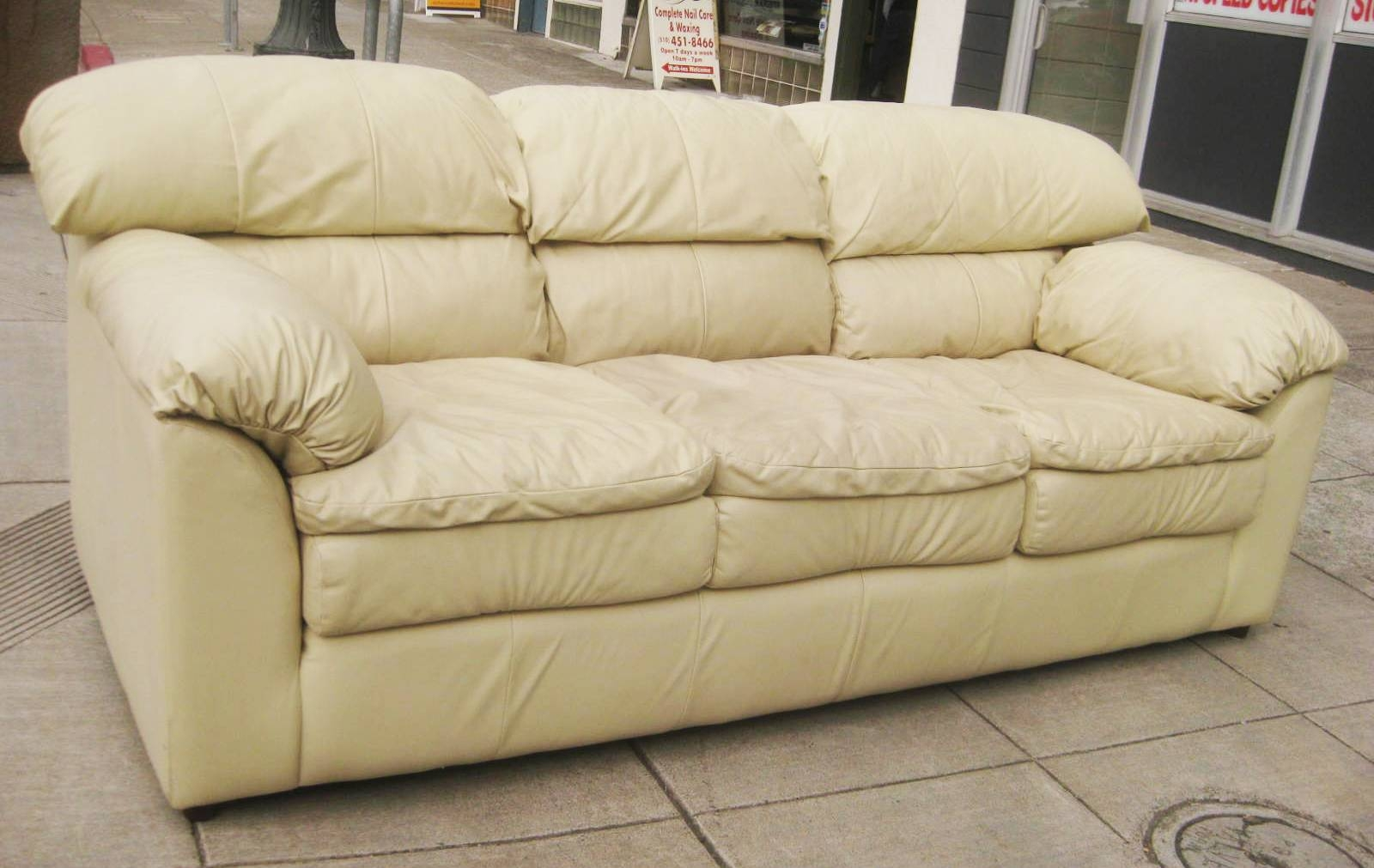 Uhuru Furniture & Collectibles: Sold - Beige Leather Sofa - $125 inside Beige Leather Couches (Image 15 of 15)