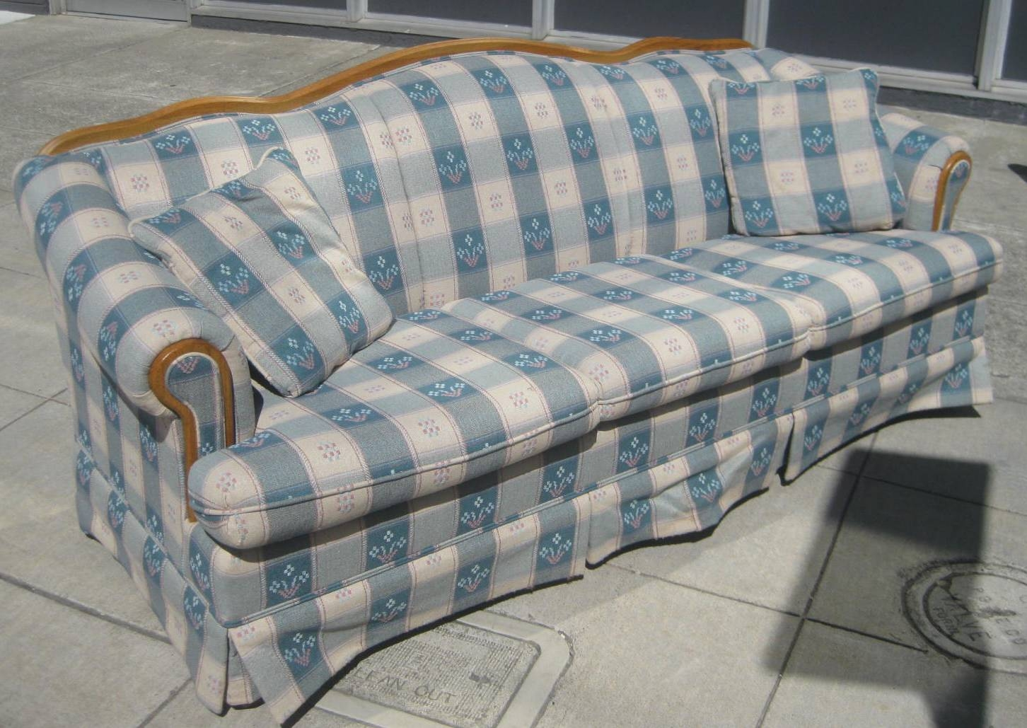 Uhuru Furniture & Collectibles: Sold - Plaid Sofa - $60 with Blue Plaid Sofas (Image 15 of 15)