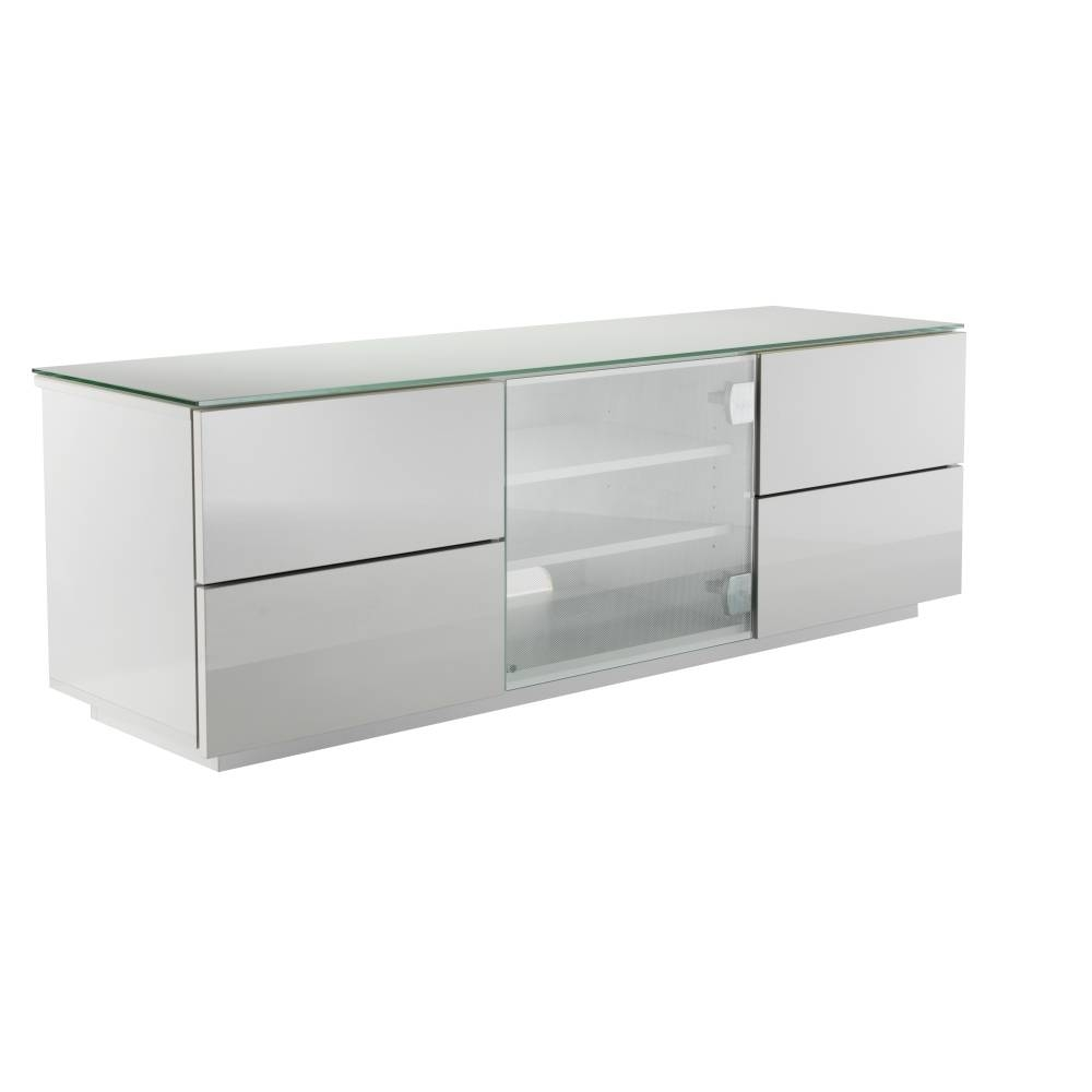 Ukcf London Designer High Gloss White Tv Stand With White Glass inside 150Cm Tv Unit (Image 12 of 15)