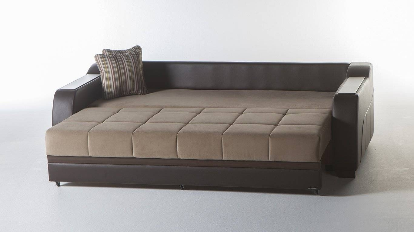 Ultra Lilyum Vizon Convertible Sofa Bedsunset intended for Convertible Futon Sofa Beds (Image 15 of 15)
