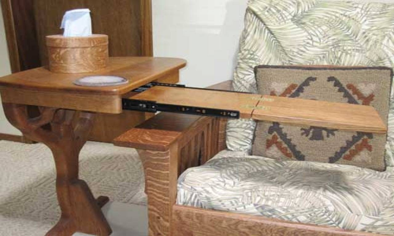Under Sofa Table Tray Side Sofa End Table Wood Desk Chair Tray inside Under Sofa Tray Tables (Image 15 of 15)