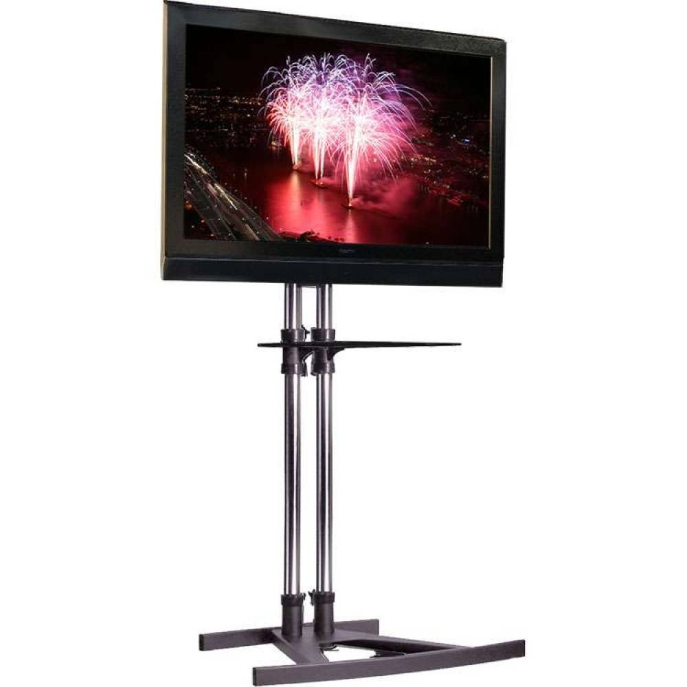 Unicol Vs1000 Freestanding Tv Floor Stand Modern Storage Shelf Throughout Telly Tv Stands (View 11 of 15)