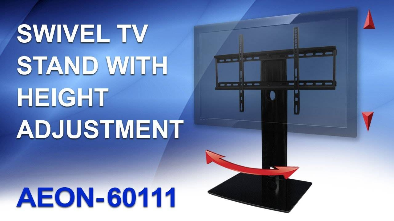 Universal Tv Stand For Samsung, Vizio, Lg, Sony - Youtube throughout Tv Stands Swivel Mount (Image 12 of 15)