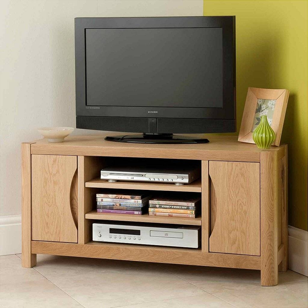 Vale Furnishers Carlson Corner Tv Unit regarding Small Corner Tv Cabinets (Image 15 of 15)