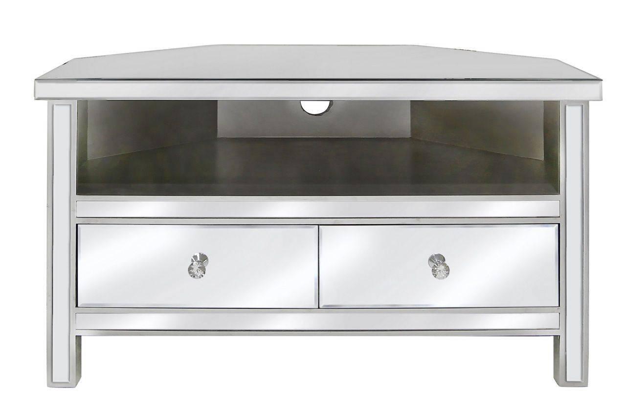 Venetian Mirrored Corner Tv Stand Mirrored Corner Tv Cabinet With regarding Mirror Tv Cabinets (Image 15 of 15)