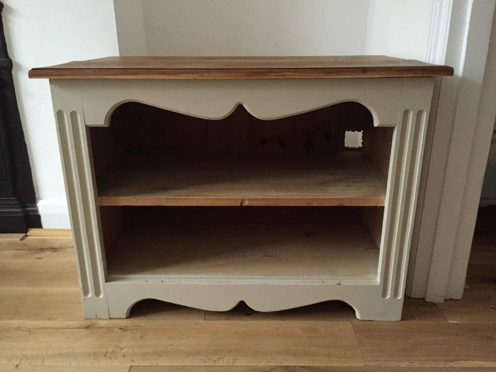 Vintage Upcycled Tv Stand Cabinet Storage Dresser Wooden Cream with French Style Tv Cabinets (Image 15 of 15)