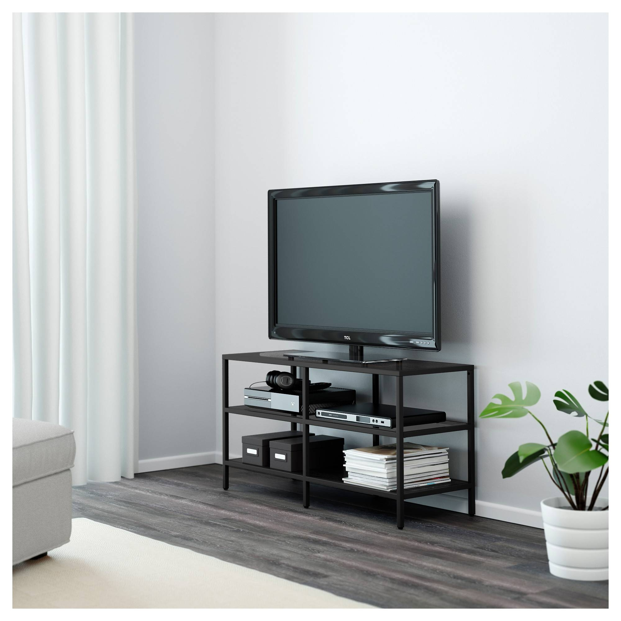 Vittsjö Tv Unit - Black-Brown/glass - Ikea with regard to Tv Table (Image 15 of 15)