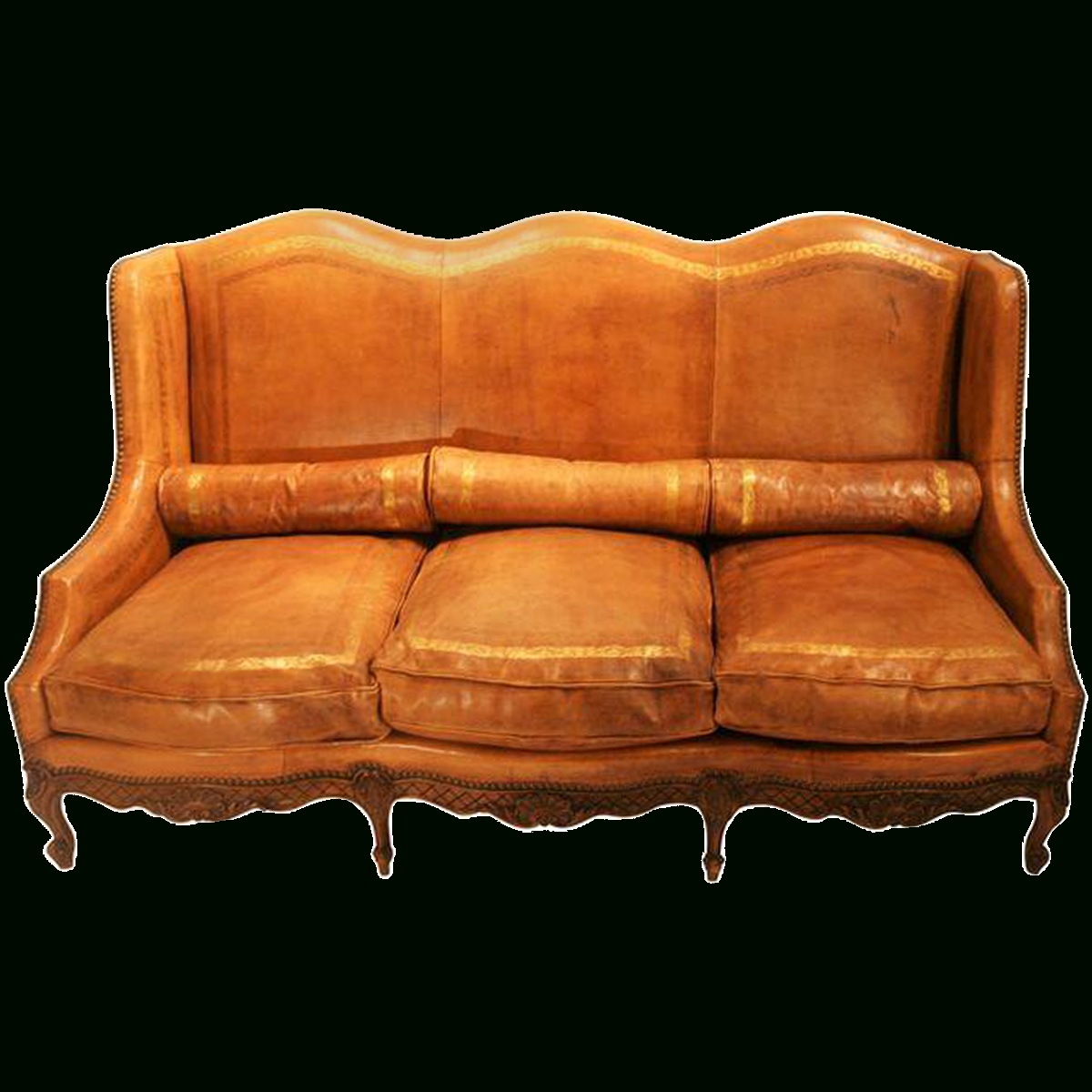 Viyet - Designer Furniture - Seating - Antique Louis Xv Camelback with Camelback Leather Sofas (Image 15 of 15)