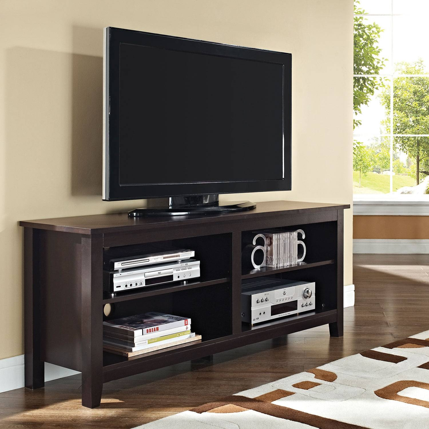 """Walker Edison 65"""" Tv Stand - Espresso : Tv Stands - Best Buy Canada for Cheap Wood Tv Stands (Image 13 of 15)"""