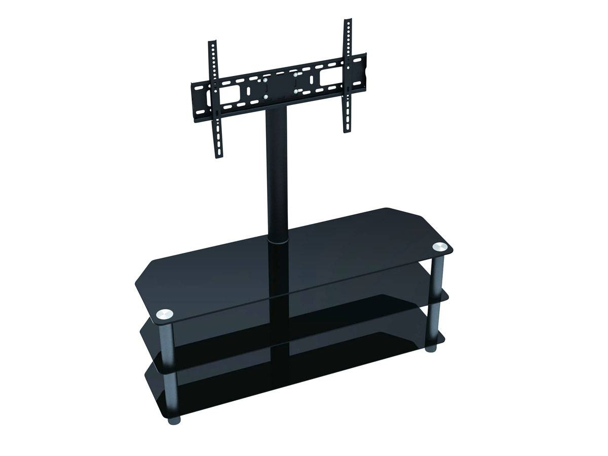 "Walker Edison Black Tv Stand For Tvs Up To 48"" - Walmart pertaining to Cordoba Tv Stands (Image 12 of 15)"