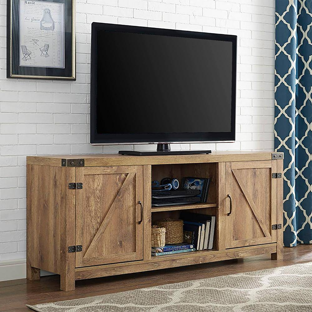 Walker Edison Furniture Company Rustic Barnwood Storage with Rustic Tv Cabinets (Image 15 of 15)