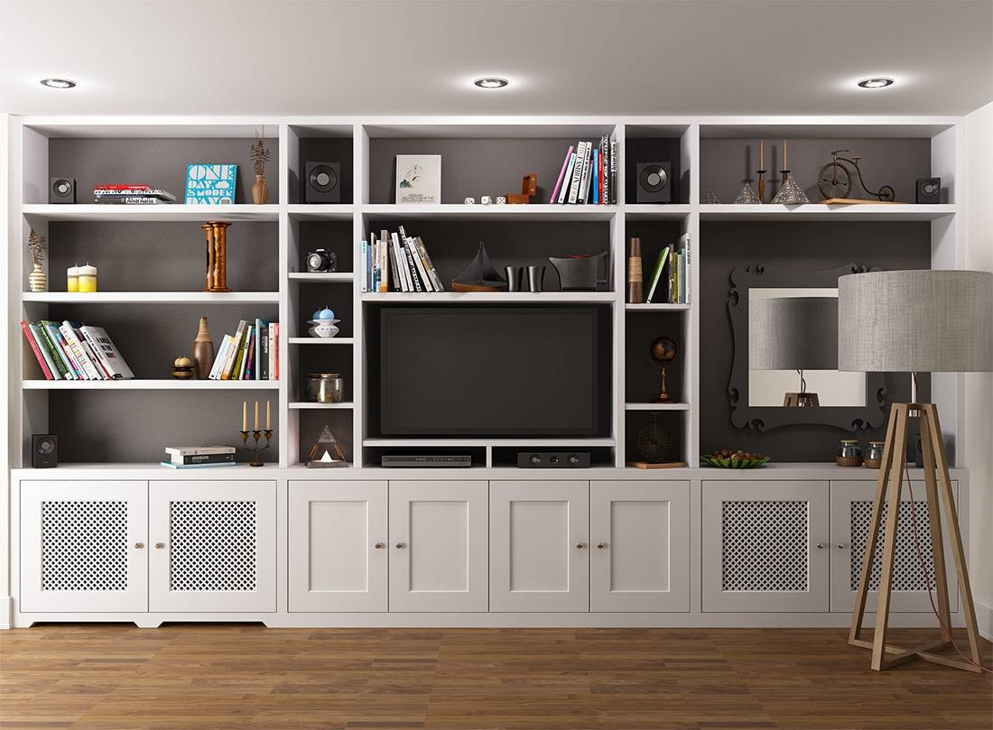 Wall Units: Awesome Built In Bookshelves Around Tv Built In regarding Tv Stands With Bookcases (Image 13 of 15)