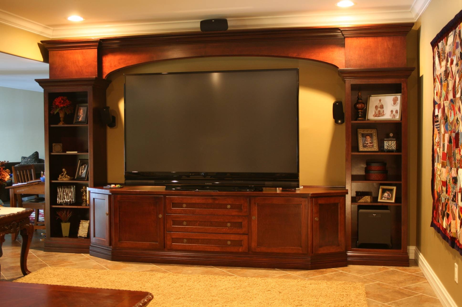 Wall Units. Awesome Built In Entertainment Centers For Flat Screen throughout Tv Stands For Large Tvs (Image 15 of 15)