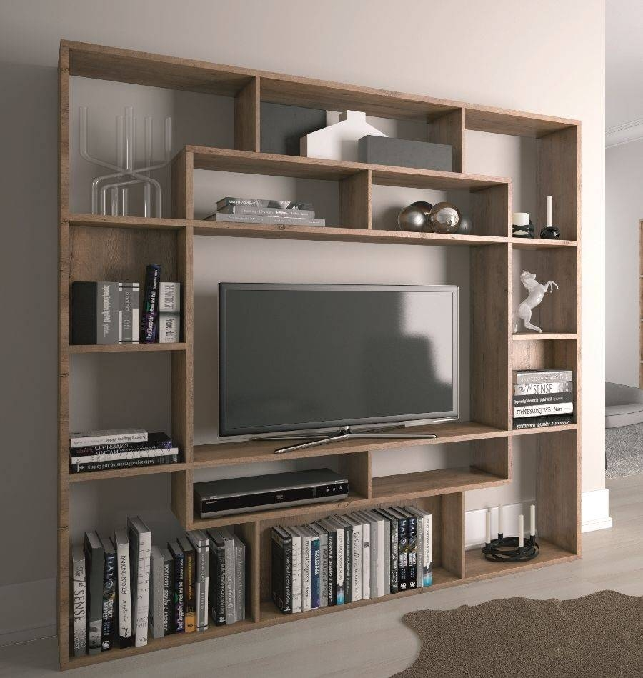 Wall Units: Glamorous Bookcase With Tv Shelf Bookcases With Tv in Tv Stands With Bookcases (Image 14 of 15)