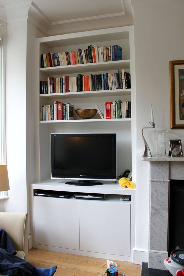 Wall Units: Glamorous Bookcase With Tv Shelf Bookcases With Tv throughout Tv Stands With Bookcases (Image 15 of 15)