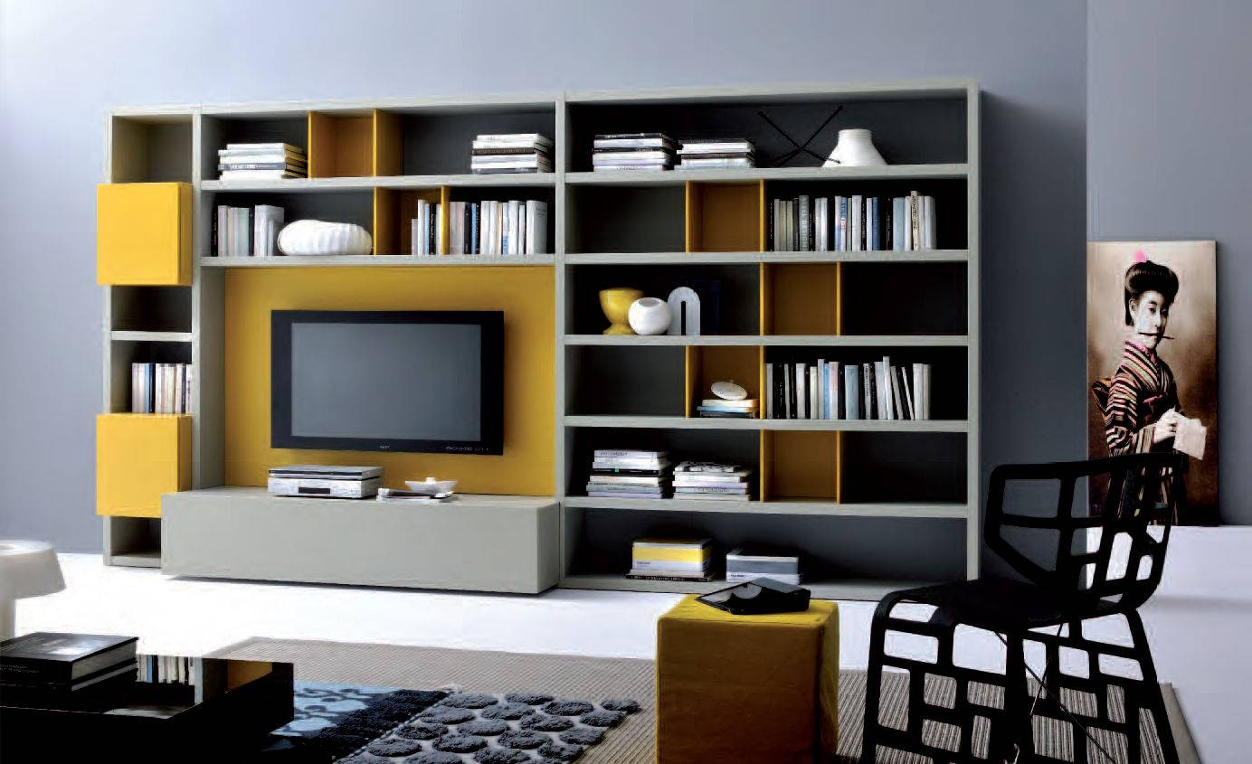 Wall Units: Glamorous Bookcase With Tv Shelf Bookshelf And Tv Inside Tv Stands With Bookcases (View 12 of 15)