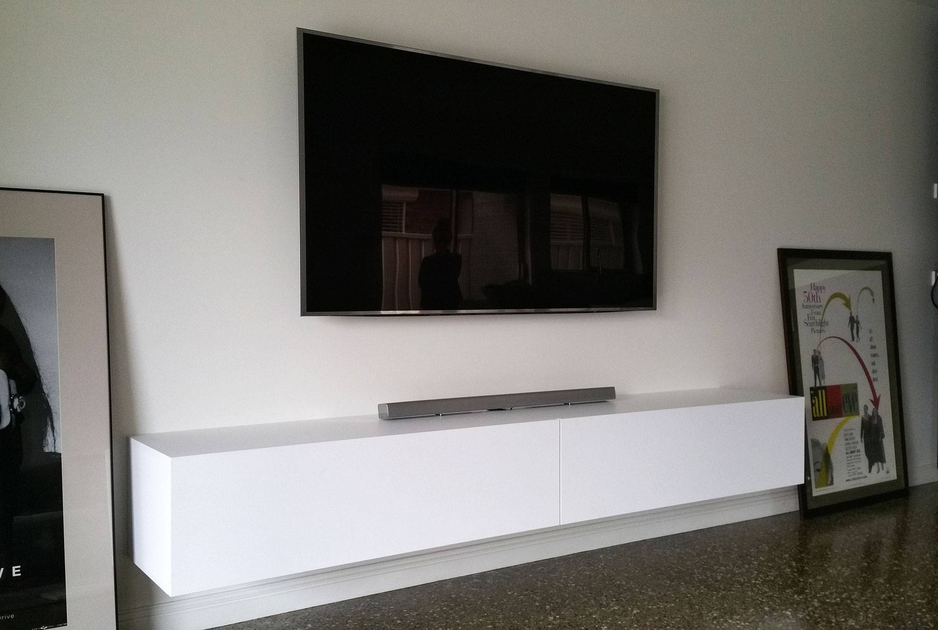 Wall Units: Interesting Floating Entertainment Unit Floating Inside Floating Tv Cabinet (View 2 of 15)