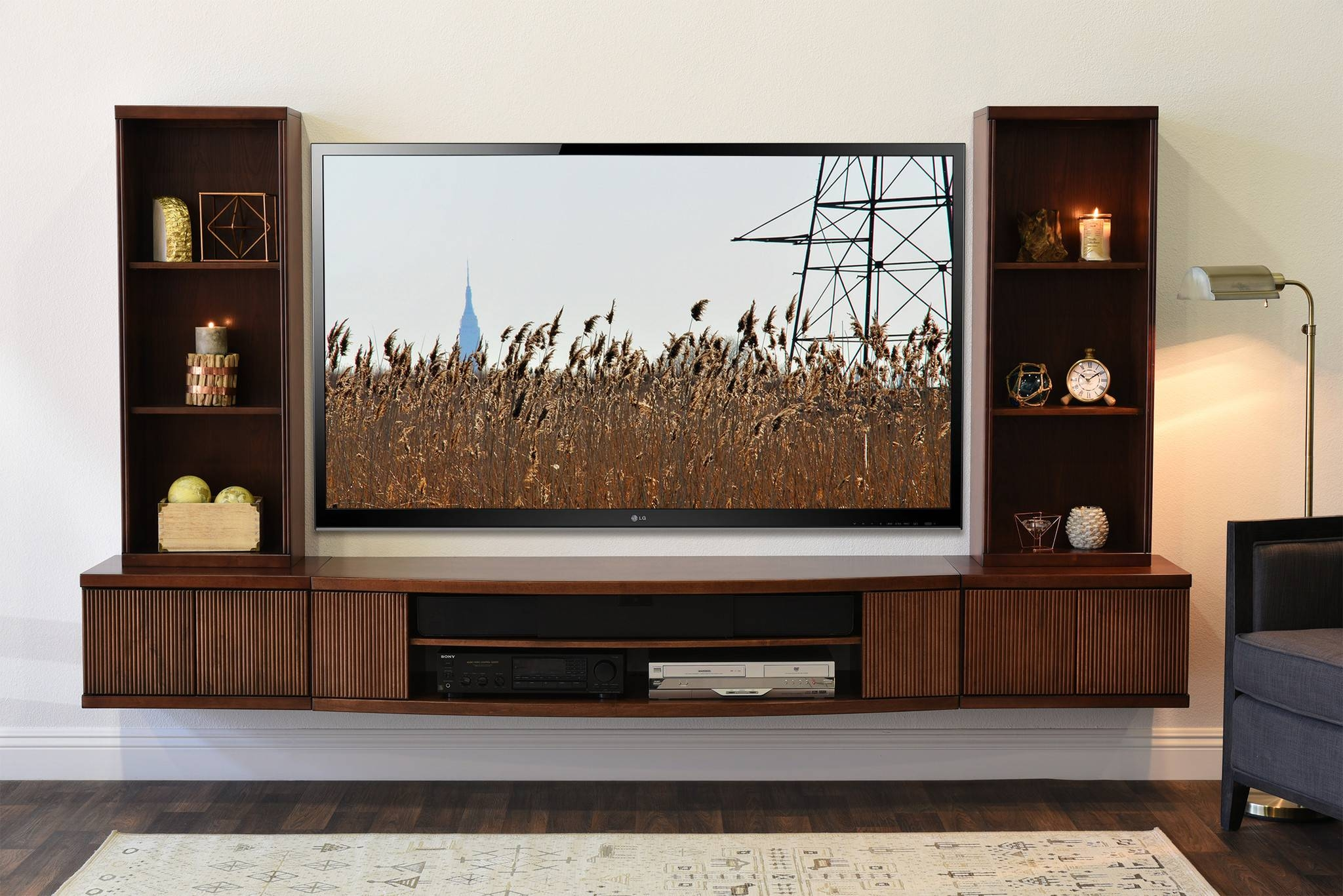 Wall Units. Interesting Wall Mounted Tv Entertainment Center pertaining to Modern Wall Mount Tv Stands (Image 15 of 15)