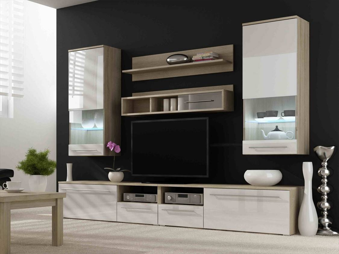 Wall Units: Stunning Modern Wall Unit Entertainment Center Modern Within Cream Tv Cabinets (View 14 of 15)