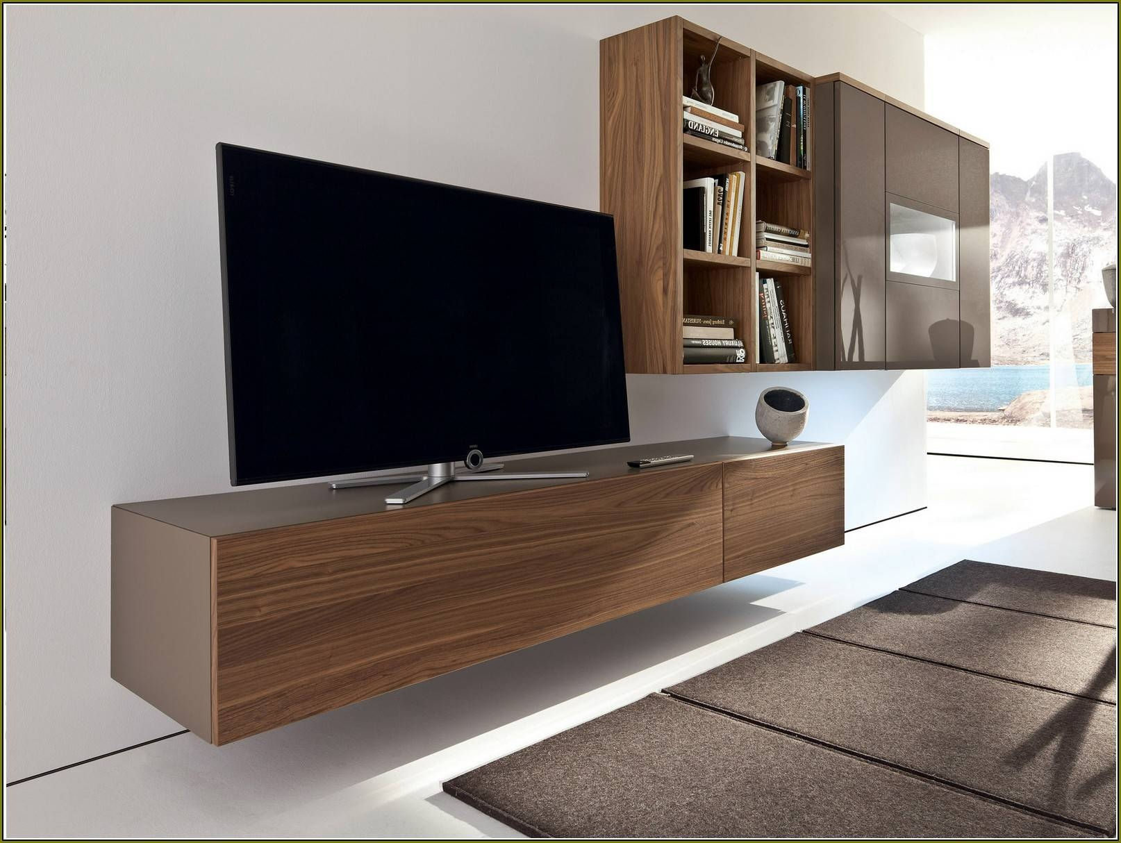 Wall Units: Stunning Wall Tv Cabinet With Doors Wall Mounted Flat Inside Wall Display Units And Tv Cabinets (View 11 of 15)