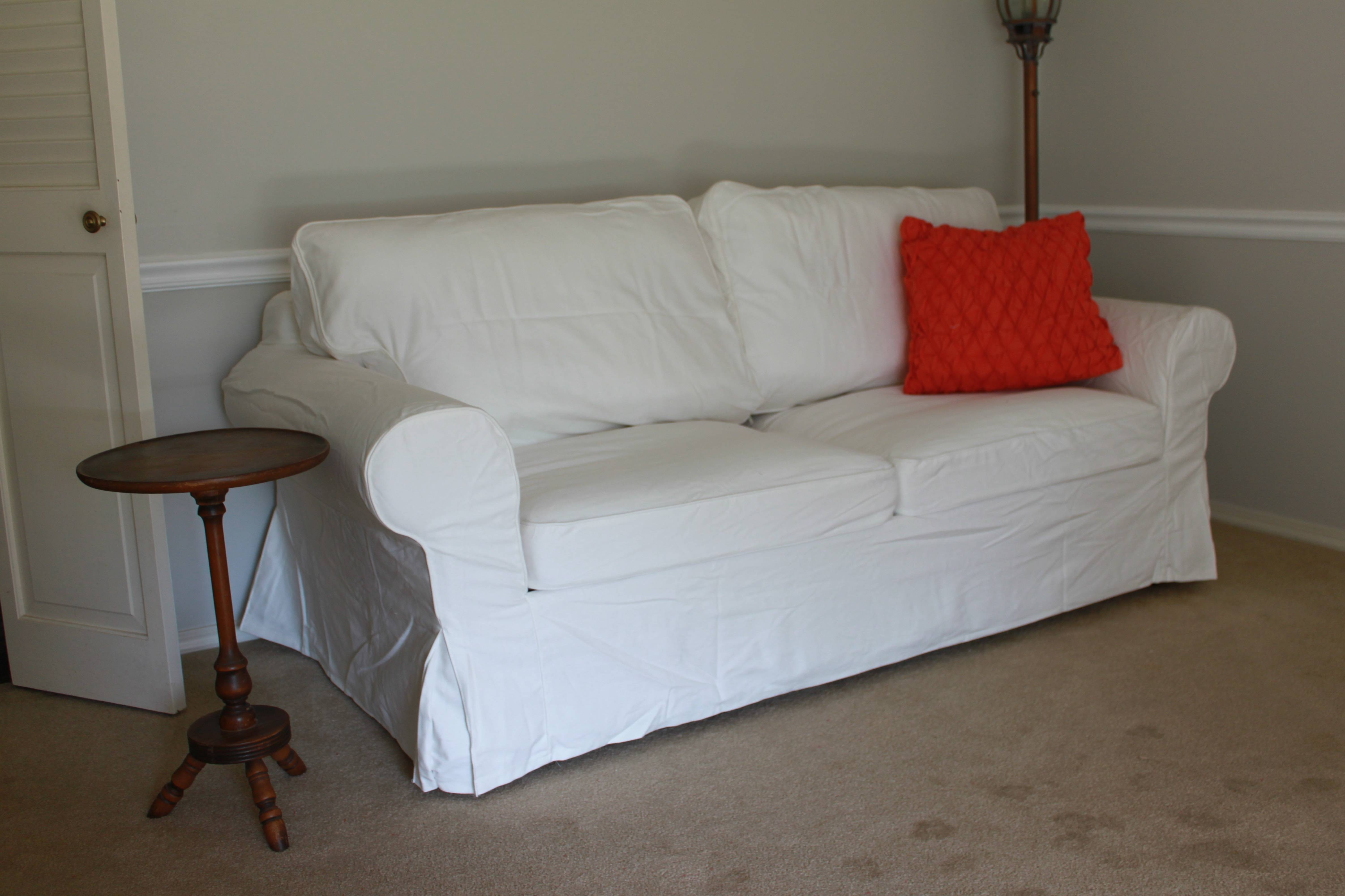 Washing Ektorp Sofas And Finding The Missing Cover | All Things regarding Sleeper Sofa Slipcovers (Image 15 of 15)