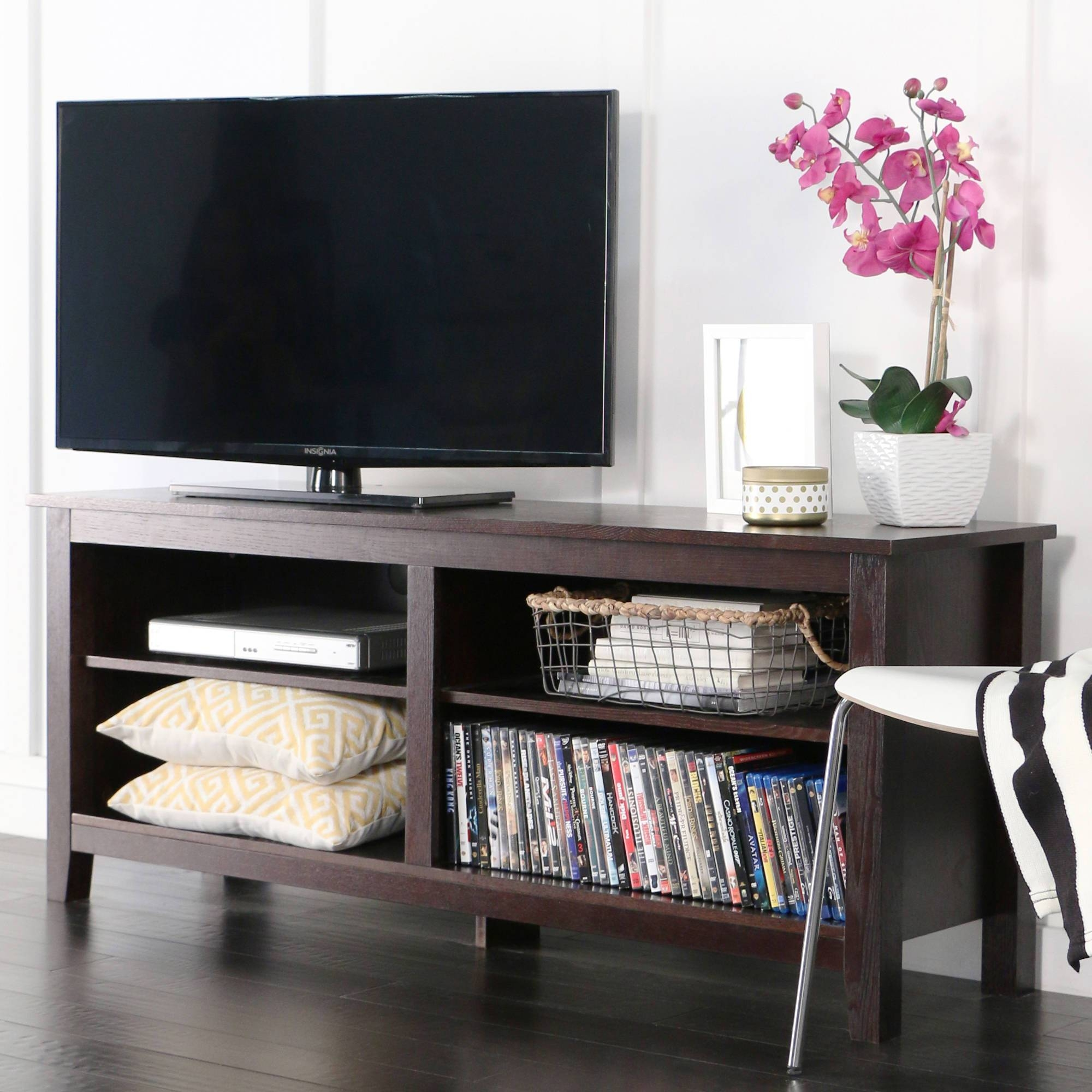 "Whalen 2 Shelf Tv Stand With Mount For Tvs Up To 50"" - Walmart within Tv Stands for Tube Tvs (Image 15 of 15)"